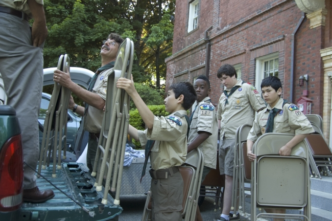 Ian and scouts load em up