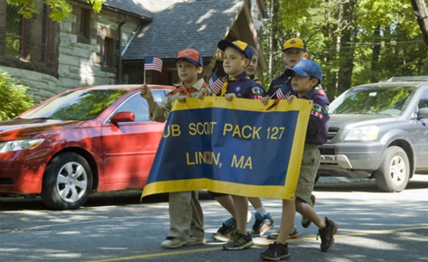 Cub Scouts Marched in the Parade, too